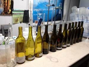 Variety of Glass Wine Bottles
