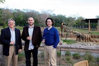 Erik Miller (middle) at the Dallas Zoo's winemaker/fundraiser dinner